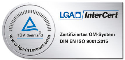 LGA Logo DIN EN ISO 9001:2015