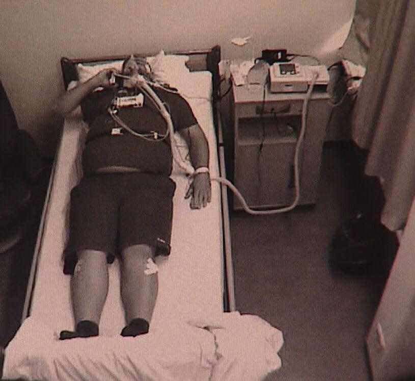 Schlafender Patient